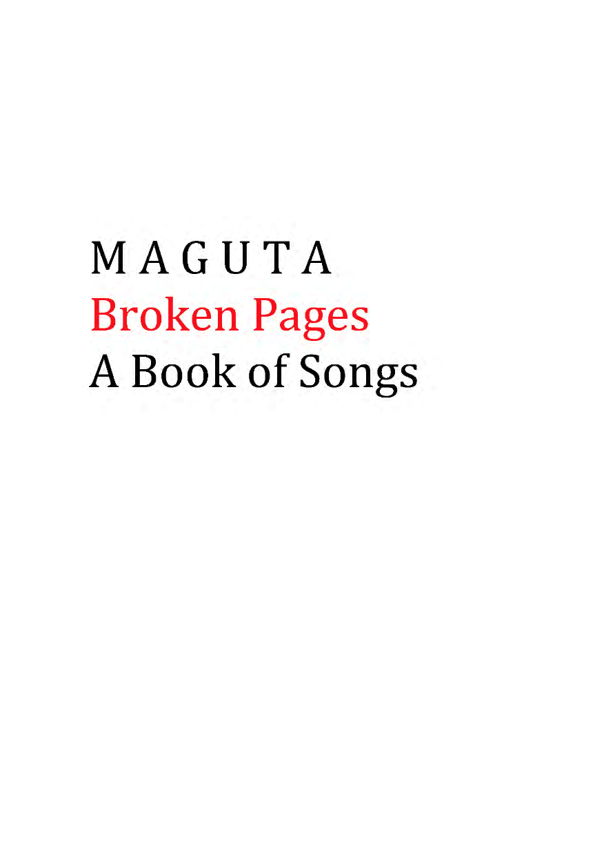 Maguta Broken Pages Lyrics book